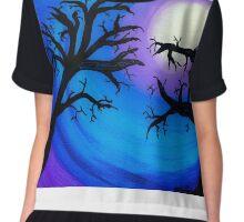 Moonlight Trees Chiffon Top