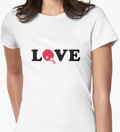 Ping Pong love Womens Fitted T-Shirt