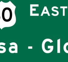 Mesa-Globe, Road Sign, AZ Sticker