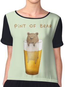 Pint of Bear Chiffon Top