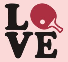 Ping Pong table tennis love Baby Tee