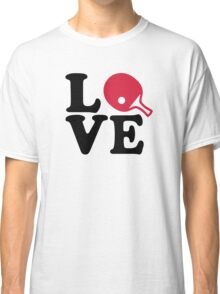 Ping Pong table tennis love Classic T-Shirt