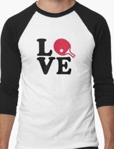 Ping Pong table tennis love Men's Baseball ¾ T-Shirt