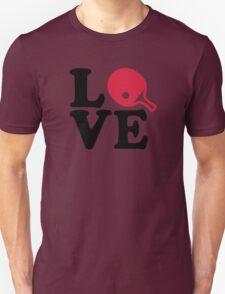 Ping Pong table tennis love Unisex T-Shirt