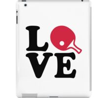 Ping Pong table tennis love iPad Case/Skin