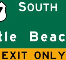 Myrtle Beach, Road Sign, SC Sticker