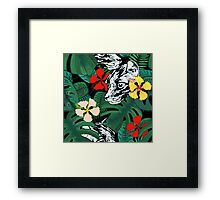 Tropical paradise. Exotic flowers. Jungle. Framed Print