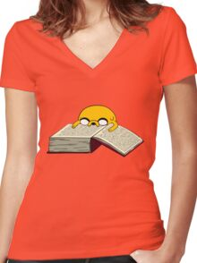 Read A Book Women's Fitted V-Neck T-Shirt