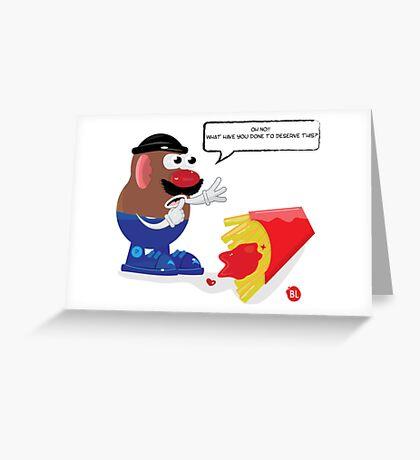 something went wrong! Greeting Card