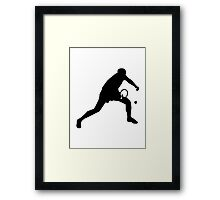 Ping Pong table tennis player Framed Print