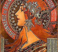 Savonnerie de Bagnolet by Alphonse Mucha (Reproduction) by Roz Barron Abellera