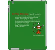 Coffee Monkey - Definition iPad Case/Skin