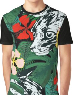 Tropical paradise. Exotic flowers. Jungle. Graphic T-Shirt