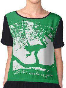 Tom Waits - All the World is Green Chiffon Top