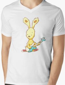 Funky Rabbit Mens V-Neck T-Shirt