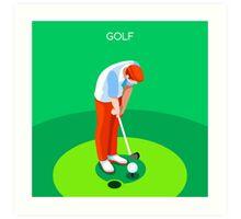 Golf 2016 Summer Games 3D Art Print