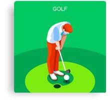 Golf 2016 Summer Games 3D Canvas Print