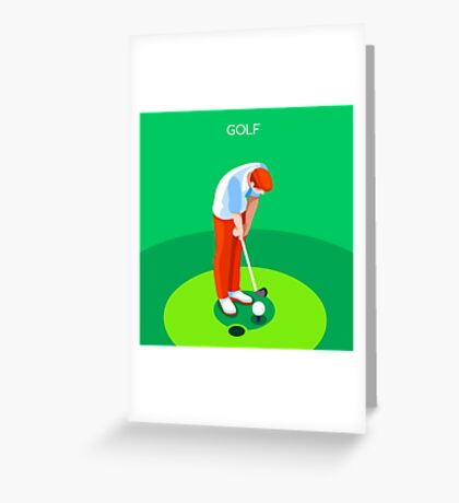 Golf 2016 Summer Games 3D Greeting Card
