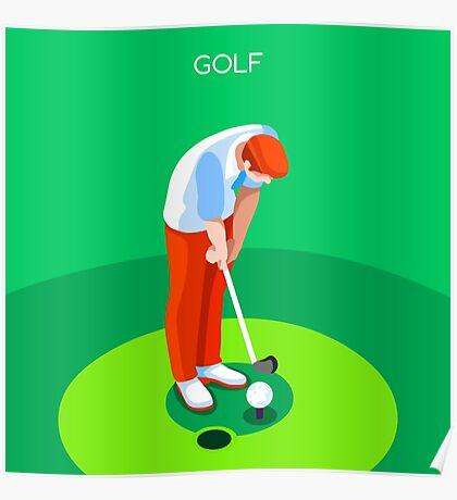 Golf 2016 Summer Games 3D Poster