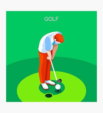 Golf 2016 Summer Games 3D Photographic Print