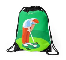 Golf 2016 Summer Games 3D Drawstring Bag