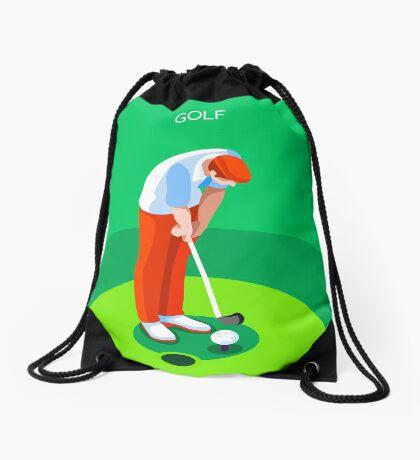 Golf 2016 Summer Games 3D Drawstring Bag