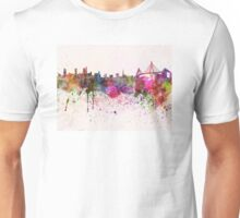 Hamburg skyline in watercolor background Unisex T-Shirt