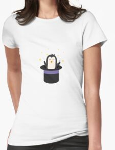 Penguin magician   Womens Fitted T-Shirt