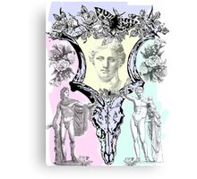 Greek gods in post punk skull mashup Canvas Print