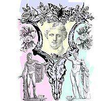 Greek gods in post punk skull mashup Photographic Print