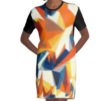Netz aus bunten Dreiecken Cartoon 1 Graphic T-Shirt Dress