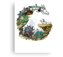 Ghibli Circle Canvas Print