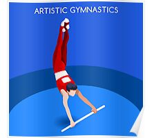 Gymnastics High Bar 2016 Summer Games  Poster