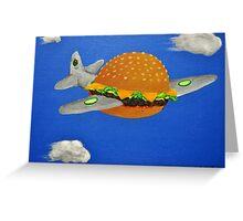 Bomber Burger Greeting Card