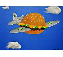 Bomber Burger Photographic Print