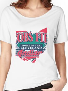 Cleveland Indians V Women's Relaxed Fit T-Shirt