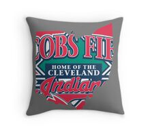 Cleveland Indians V Throw Pillow