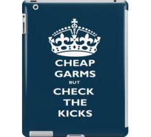 cheap garms but check the kicks iPad Case/Skin
