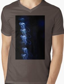 Shining Light - Blue  Mens V-Neck T-Shirt