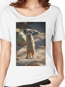 Meerkat on Lookout  Women's Relaxed Fit T-Shirt