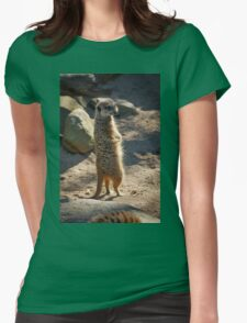 Meerkat on Lookout  Womens Fitted T-Shirt