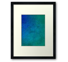 No.1 Turquoise Blue Framed Print
