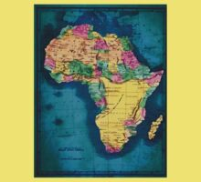 Map of Africa  One Piece - Short Sleeve