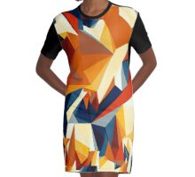 Netz aus bunten Dreiecken Cartoon 2 Graphic T-Shirt Dress