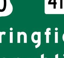 Springfield, Road Sign, MO Sticker