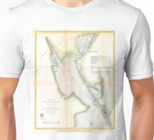 Vintage Port of Providence Rhode Island Map (1865) Unisex T-Shirt