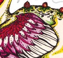 Floral Dragon Sticker