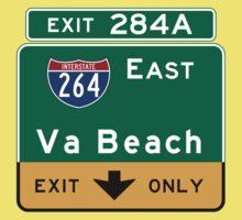 Virginia Beach, Road Sign, VA One Piece - Short Sleeve