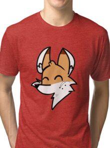 Catoon Fox Sticker Tri-blend T-Shirt