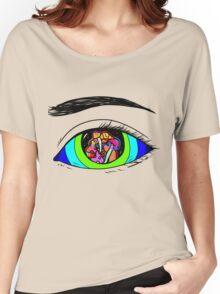 Mushroom Eye - Colourful Eye Illustration Women's Relaxed Fit T-Shirt